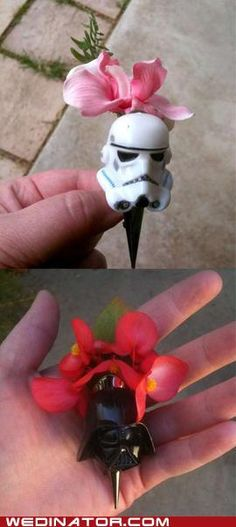 These are not the boutonnieres you're looking for...