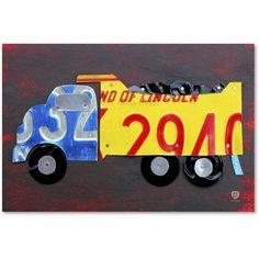 Trademark Fine Art 'Dump Truck' Canvas Art by Design Turnpike, Size: 22 x 32, Multicolor