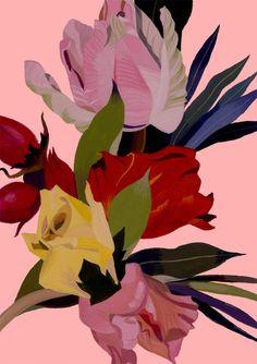 Hiroyuki Izutsu - Bold Colour Contrasting Florals