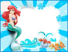 Ariel: Invitaciones para Imprimir Gratis.