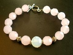 Pink Glass Bracelet by SharonKrug on Etsy, $24.95