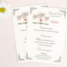 Minutas para bodas campestres: Tarro de flores silvestres