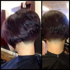 Sleek Straight Bob Hairstyle For African-American Hair - 20 Classic Bob Hairstyles to Flaunt This Season - The Trending Hairstyle Short Hair Back, Short Hair Cuts, Stacked Bob Hairstyles, Straight Hairstyles, Wedge Hairstyles, Shaved Nape, Pelo Afro, Remy Human Hair, Great Hair