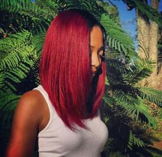 Deep reds on warm skin tones can be beautiful