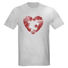 Amazon.com: PIECE OF MY HEART Autism Light T-Shirt by CafePress: Clothing