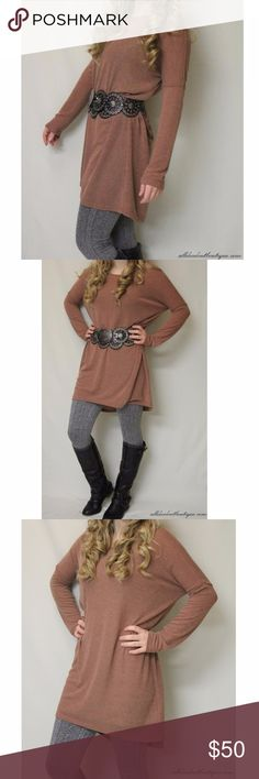 Umgee Sweater Hi-Low Tunic Dress Brick Rust Top Umgee   Brick Sweater  60% Cotton, 40% Polyester Hand wash in cold water, hand dry  For FREE USA SHIPPING and/or DISCOUNTS, buy from my website! (see link below) https://www.alldecdoutboutique.com/products/umgee-brick-sweater Umgee Dresses High Low