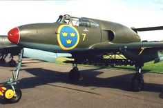 Saab 21R (1947) was a Swedish twin-boom fighter/attack aircraft made by Saab. It was a jet-powered development of the piston-engined Saab 21 which along with the Russian Yakovlev Yak-15 was one of the only two jet fighters successfully converted from a piston-powered aircraft to enter production
