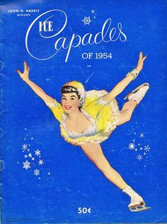 Joe de Mers - Ice Capades of 1954 vintage skating program with pin-up cover art.