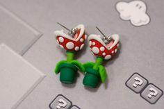 YOUCH Piranha Pflanze Ohrringe Mario von lizglizz auf Etsy