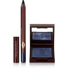 Charlotte Tilbury Nocturnal Cat Eyes to Hypnotise - Midnight Seduction (155 BRL) ❤ liked on Polyvore featuring beauty products, makeup, eye makeup, beauty, cosmetics and blue