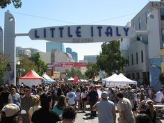 "San Diego - Little Italy ""Buon appetito"""