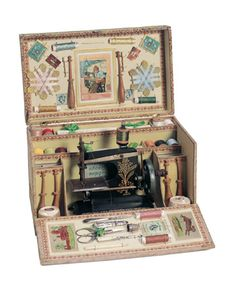 Child's sewing machine kit Theriault's Antique Doll Auctions