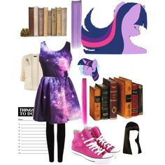 """""""Twilight Sparkle has read ALL those books"""" by shygaladriel on Polyvore"""