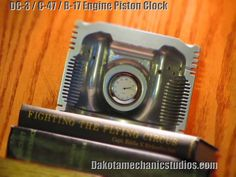 EBay auction  Great gift for Father's Day! Authentic DC-3 / C-47 / B-17 Airplane Engine Piston Clock #Airplane #WWII #History #Military