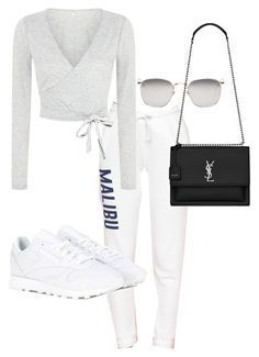 """Untitled #23382"" by florencia95 ❤ liked on Polyvore featuring Reebok, Yves Saint Laurent and Linda Farrow"