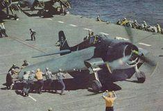 Grumman F6F Hellcat on USS Yorktown