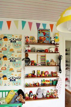 Shop for kids room Furniture - Bedding Childrens Room Decor, Baby Room Decor, Retro, Ideas Prácticas, Kids Room Furniture, Kids Room Design, Kid Spaces, Girl Room, Colorful Interiors