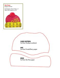 Free Winter Hat Card pattern