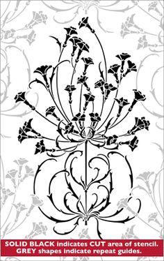Repeat No 8 stencil from The Stencil Library ARTS AND CRAFTS range. Buy stencils online. Stencil code DE74.
