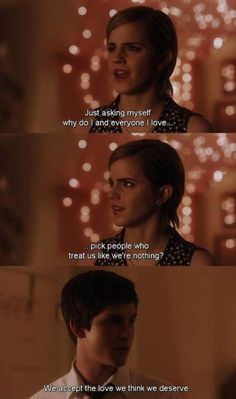 Perks of Being a Wallflower... I think my mind purposefully locked away memories of that movie because in ways it hit me too close to home, I don't remember