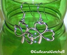 Hand Crafted 925 Sterling Silver Shamrock by GailearaiGetchell, $15.00