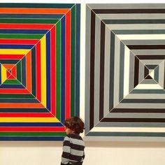 """""""On Wednesdays, we wear stripes"""" #FrankStella """" by @ananewyork on Instagram"""