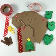 Image result for handmade christmas tags