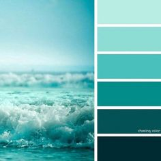43 Ideas bedroom paint ideas turquoise beach houses for 2019 bedroom 43 Ideas bedroom paint ideas turquoise beach houses for 2019 Beach Color Palettes, Green Colour Palette, Ocean Color Palette, Turquoise Painting, Turquoise Paint Colors, Turquoise Water, Bedroom Turquoise, Green Ocean, Ocean Colors