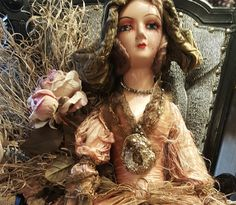 Boudoir Doll Rare Tattered & Beautiful 1930's w/ by RomanticRuins