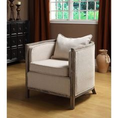Channing Bleached Gray Club Chair | Overstock.com
