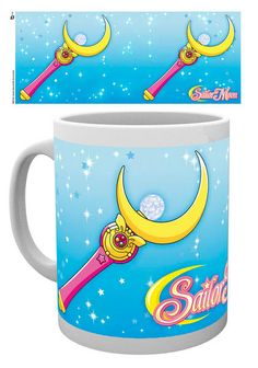Taza Moon Stick. Sailor Moon  Estupenda taza con el título Moon Stick, perteneciente al exitoso manga/anime del mismo nombre fabricada en cerámica, y apta para microondas y lavavajillas 100% oficial y licenciada. Ideal para regalar.