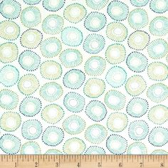 Michael Miller Into The Deep Sea Anemones Lagoon from @fabricdotcom  Designed by Patty Sloniger for Michael Miller, this cotton print fabric is perfect for quilting, craft projects, apparel and home decor accents. Colors include shades of blue and shades of green.
