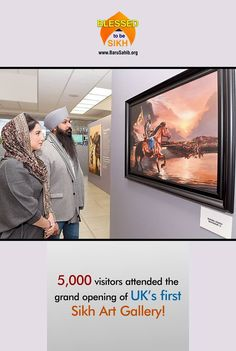 5,000 visitors attended the grand opening of UK's first Sikh Art Gallery!  This modern 7,000 sq ft gallery located in Slough, UK took design inspiration from London's renowned contemporary art gallery scene.