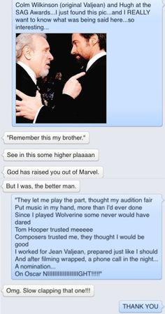 Les Miserables fan text conversations...