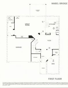 Mabel 245.2885 First Floor Plan in Orlando FL