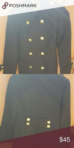 """Forever 21 Black Military Coat S 28"""" long, 17 pit to pit, 23"""" sleeves Forever 21 Jackets & Coats Trench Coats"""