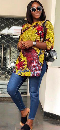 African Fashion Dresses Ankara Print Tops – African Dresses Styles by Fatihbaba. African Fashion Ankara, African Wear Dresses, African Inspired Fashion, Latest African Fashion Dresses, African Print Fashion, African Attire, African Style, African Print Top, Ghana Fashion