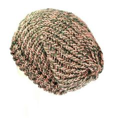 fe53c85c113 Pink slouchy hat handmade with soft acrylic   recycled yarn