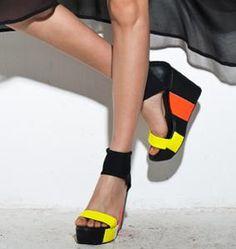 Yellow & Orange Neon Heels