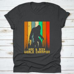 Buy yours Hide And Seek Champion Vintage Bigfoot Christmas T-Shirt now today at Panda Gifts at lowest price if you are looking for products related to Vintage Humor, Funny Vintage, Panda Gifts, Bigfoot, You Funny, Digital Prints, Champion, Valentines, Mens Tops