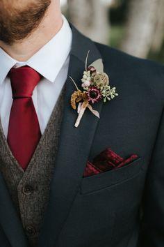 flowers by Summer Robbins Flowers. photo by Gallivan Photo. Groom Attire, Groom And Groomsmen, Groom Suits, Wedding Groom, Wedding Attire, Fall Wedding Suits, Dream Wedding, Wedding Day, Fall Wedding Flowers