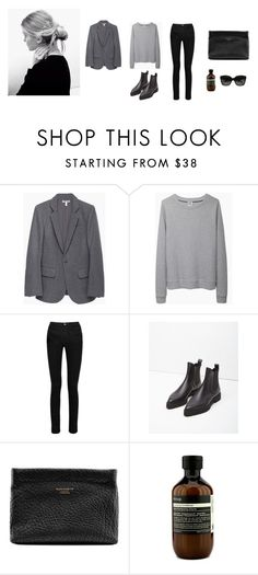 """Untitled #1677"" by memoiree ❤ liked on Polyvore featuring Current/Elliott, Base Range, Acne Studios, Proenza Schouler, Aesop and CÉLINE"