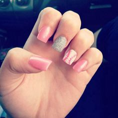 Pink Baseball nails