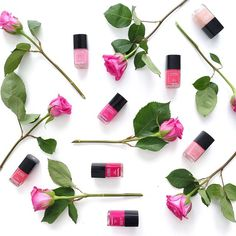 Chanel and roses. #flatlay #nailpolish