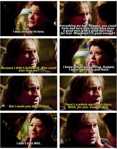 """I don't love Will"" - Rumple and Belle #OnceUponATime"