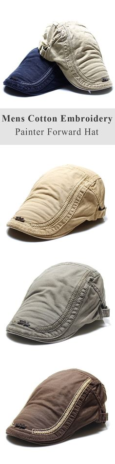 Mens Sunshade Berets Caps: Casual /Travel /Embroidery