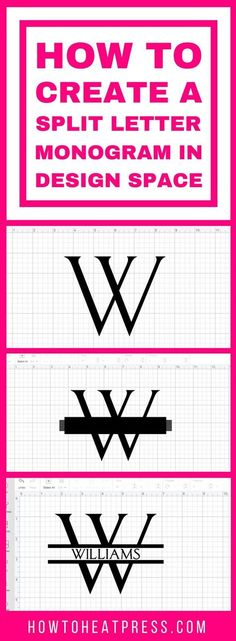 How To Create A Split Letter Monogram In Cricut Design Space Easy Tutorial! is part of crafts Projects Vinyl - Make a split monogram for your loved ones with this tutorial I use Cricut Design Space to make a simple split monogram for craft projects How To Use Cricut, Cricut Help, Cricut Craft Room, Cricut Vinyl Projects, Vinyl Lettering Projects, Cricut Project Ideas, Diy Projects, Alphabet, Cricut Fonts