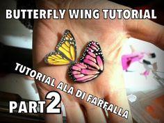 HOW MAKE EASY FAIRY WINGS BUTTERFLY CLAY TUTORIAL EP 2 - Come fare Ala di Farfalla parte 2 - YouTube