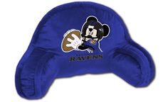 Use this Exclusive coupon code: PINFIVE to receive an additional 5% off the Baltimore Ravens Mickey Mouse Kids Bed Rest Pillow at SportsFansPlus.com