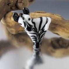 Zebra - Blue Blazes Lampwork